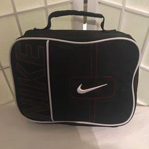 Nike Soft Case Lunchbox Bag Red Black White Swoosh